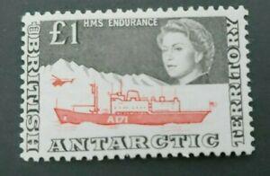 CLASSIC 1 POUND GB UK BAT BRITISH ANTARCTIC TERRITORY VF MNH WK4.5 START 0.99$