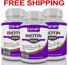 Biotin - 360 Capsules - 10,000mcg - Maximum Strength - Hair Skin Nails 10000mcg