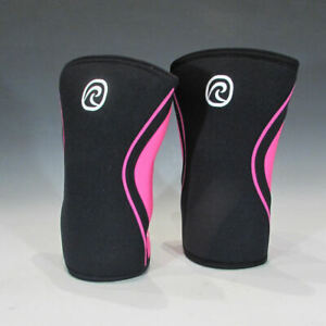 Rehband Rx Knee Supports 105333, Qty of 2 (5mm, Black / Pink, M) - Retail Return