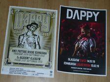 Dappy live music memorabilia - Scottish tour show concert gig posters x 2