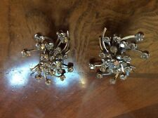 VINTAGE RHINESTONE BIG EARRINGS