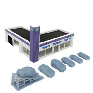 Outland Models Railway Scenery Car Dealership Building 1:220 Z Scale