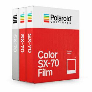 Polaroid Originals SX-70 Core Film Triple Pack (2 Colour, 1 B&W)