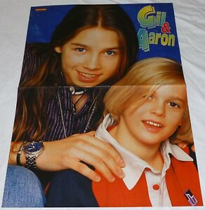 AARON CARTER CENTREFOLD POSTER RARE 2 PAGE YOUNG BLONDE BOY CRUSH ON YOU GIL