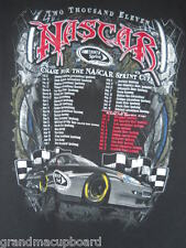 2011 NASCAR Chase for the Sprint Cup Series Adult Medium T-Shirt Dates Speedways