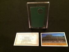 Green Bay Packers GAME USED PIECE of METAL from Lambeau Field Stadium w/Case