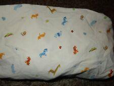 Ln Carter'S Safari Jungle Zoo Wild Animals Fitted Crib Sheet {Fabric} Elephant