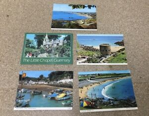 C20th Postcards- Guernsey & Jersey - Stamped & Posted to Leighton Rd, Cheltenham