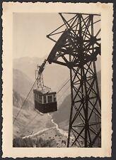 YZ0384 Funivia in transito al Passo Sella - Fotografia d'epoca - 1950 old photo