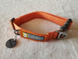 """Ruffwear Front Range Dog Collar Medium 14"""" to 20"""" Orange"""