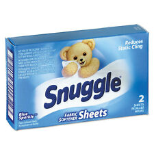 Snuggle Vend-Design Fabric Softener Sheets, Blue Sparkle, 2 Sheets/Box, 100