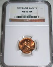 1960-P Lincoln Cent (Large Date)NGC MS66RD VERY SCARCE