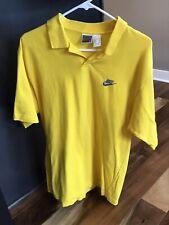 vtg 90s Nike gray tag Polo shirt Yellow size Medium men's Tennis Golf swoosh