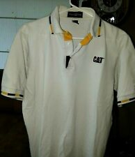 """Caterpiller Mining"" White Polo Shirt Size -Medium-"