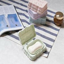 Boîte à savon porte-savons avec un couvercle fleurs généreux étanche plastique