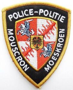Belgium mouscron police patch Politie ecusson polizei