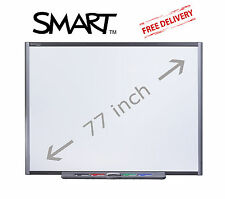 "SB680 SMARTBOARD 77"" INTERACTIVE WHITE BOARD ALL ACCESSORIES INCLUDED (No SW)"