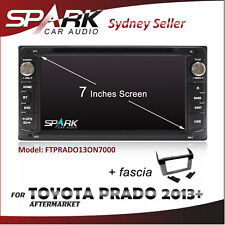 "7"" GPS SAT NAV NAVIGATION DVD IPOD BLUETOOTH SD USB RADIO FOR TOYOTA PRADO 2013+"
