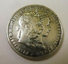 Münze Doppelgulden 1879 Silberhochzeit Franz Joseph I Elisabeth Österreich