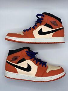 Nike Air Jordan Retro 1 Mid SE Team Orange Size 13 852542-800
