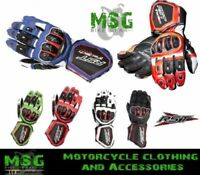 RST Tractech Evo 2579 Leather Race Sports Lined Motorcycle Motorbike Gloves New