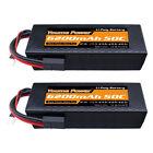 2pcs 11.1V 6200mAh 3S LiPo Battery Hardcase 50C TRX for Rc Traxxas Car Truck FPV