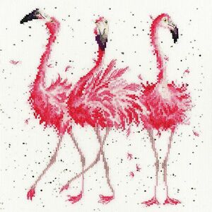 Bothy Threads ~ Counted Cross Stitch Kit ~ Pink Ladies ~ Flamingos ~  XHD24