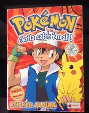 POKEMON 1999 Merlin Nintendo Sticker Album Book 100% Complete with Poster Rare.