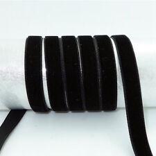 "5Yards 3/8"" Multi-Purpose DIY Velvet Ribbon Decoration Trim Sewing 10mm Thin"