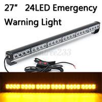 24 LED Auto Blitzleuchte Lichtbalken Stroboskoplicht Warnleuchte Blitzer !