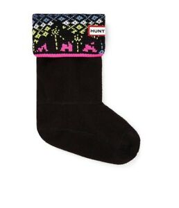 Hunter Kids Arcade NY Boot Sock Color Black Size XL(3)