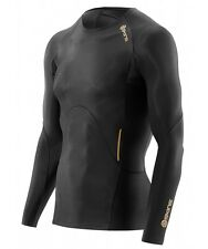 * NEW * Skins Compression A400 Mens Long Sleeve Top (Black) + FREE AUS DELIVERY
