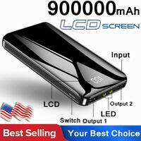 Business Holiday Gift Power Bank 900000mAh LED Portable External Battery Charger