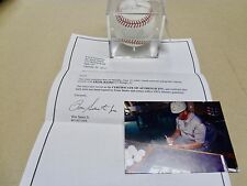 Cubs ERNIE BANKS Signed MLB Baseball w/Mr. Cub - W/Signing Photo COA/Ron SantoJr