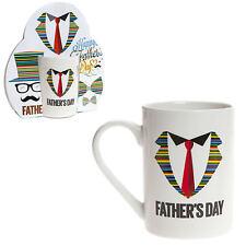 """Padre Día Taza Gres - Regalo - Color Diseño """"Collar & Cordón"""""""