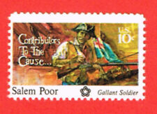 1560 Salem Poor 1975 MNH WAG Gallant Soldier-Contributor to the Cause Sing 1x10c