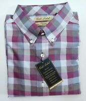 NWT Gold Label Roundtree York Red Tan Check LS Men Shirt Big Tall Many Sizes