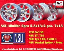 4 Roues NSU TT TTS Led lumière mini 5.5x13 +7x13 5x130 Wheels