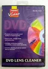 MAXIM DVD LENS CLEANER WITH FLUID WITH STATIC BRUSH ON CD IN LIBRARY CASE NEW
