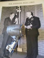 Perth WA Police HQ dispatch microphone c1940s and origianl photo of Commisioner