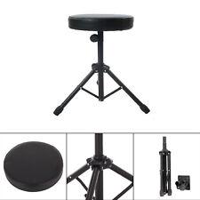 Black Folding Music Guitar Keyboard Drum Stool & Throne Piano Chair Padded Seat