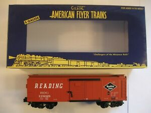 """American Flyer 6-44078 """"READING"""" BOXCAR """"NEW"""" in ORIG BOX"""