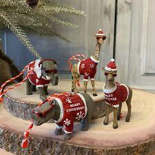 Funky Resin Animal Red Jumper Sunglasses Christmas Tree Decoration Gisela Graham