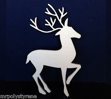 5 POLYSTYRENE DEER LARGE DESIGN 570MM HEIGHT 10MM THICK