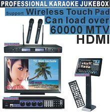 HDMI Karaoke System 19'TouchScreen Professional Wireless Microphone3TB Software