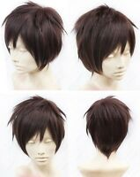 Attack on Titan Eren Jaeger Cosplay Wig Costume Brown Synthetic Hair Wigs