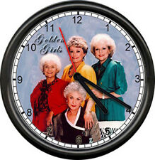 Betty White Bea Arthur Golden GIrls TV Show Television Wall Clock