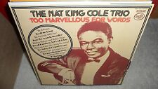 NAT KING COLE TRIO too marvellous for words  ( jazz ) - great britain -