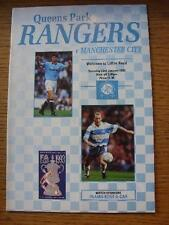 23/01/1993 Queens Park Rangers v Manchester City [FA Cup] (Light Crease, Fold).