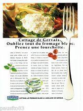 PUBLICITE ADVERTISING 116  1989   Gervais  fromage blanc à l'anglaise  Cottage